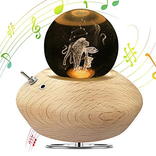 DUTISON Luz Nocturna con música, lámpara de Noche con proyección, Caja de música de Constelaciones, Regalo para cumpleaños, San Valentín, Día de la Madre, Navidad - León