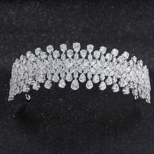 Handgefertigter, weicher Kristall-Haarreif für die Hochzeit, Zirkonia, für Haarschmuck, Brautschmuck