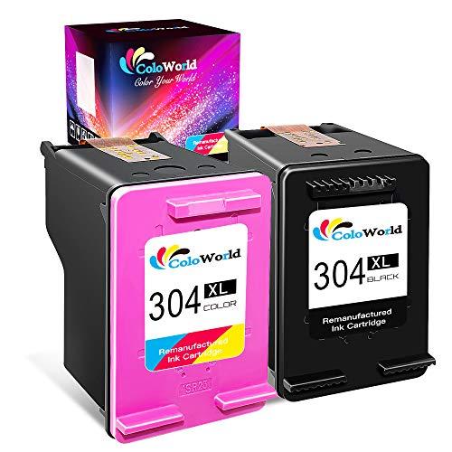 ColoWorld Remanufactured 304 304XL Druckerpatronen Schwarz Farbe Multipack Tintenpatronen für hp Envy 5010 5020 5032 5540 5640 7640 DeskJet 2620 2621 2630 2632 2633 3720 3733 3750 3760 3762 Drucker