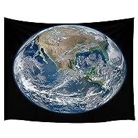 GOOESINGタペストリー リビングルーム地球のためのタペストリー 惑星地球の宇宙衛星画像から おしゃれなタペストリー壁掛け装飾