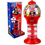 PlayO 18' Big Spiral Gumball Machine Toy - Includes 113 Gum Balls - Coin Operated Bank Kids Dubble Bubble Twirling Style...