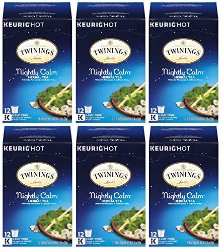 Twinings Nightly Calm Tea K-cups 0.09 Oz (Pack of 6)