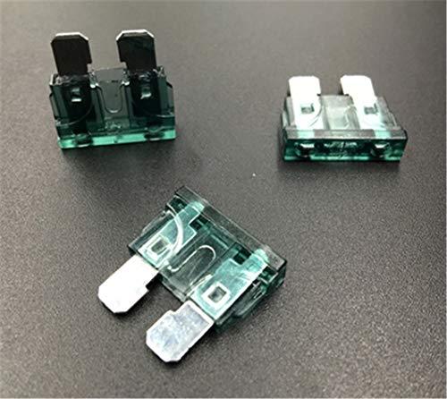 50 piezas fusible de coche medio fusible inserto conector de coche 1A 2A 3A 5A 7.5A 10A 15A 20A 30A 40A 50A 1A