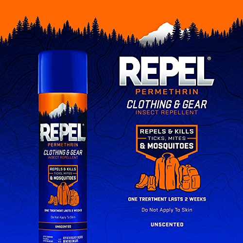 Repel Permethrin Clothing & Gear Insect Repellent Aerosol, 6.5-Ounce, HG-94129 (2 Pack)