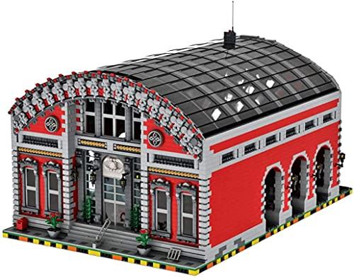 Lego City - Modelo de ladrillos de estación de tren compatible con MOC, colección de construcción de simulación, juguete arquitectónico, MOC-72682 (8703 piezas)