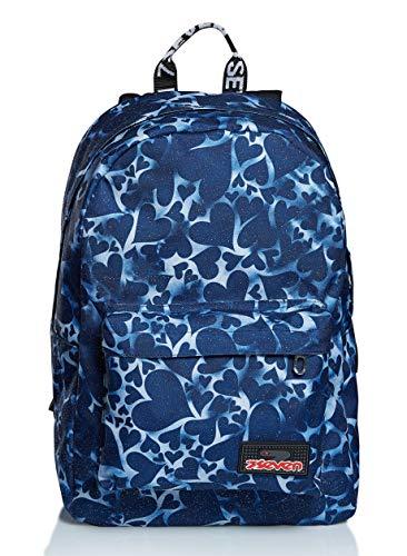 ISchoolPack Seven, Dyed Hearts , Blu, con Power Bank integrato! Scuola e Tempo Libero