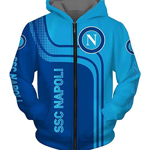 CHUSS Hoodie Sweater - 3D SSC Neapel Printed Unisex Langarm-Kapuzenjacke Sport Frühlings-T-Shirt-Oberbekleidung - Teen Zip Hoodies-4X-Large