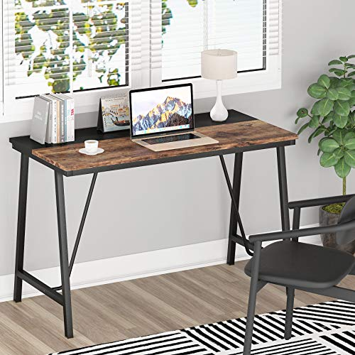 Tribesigns simple Escritorio para computadora, escritorio pequeño, escritorio de oficina en casa para estudiantes, escritorio de estudio de madera para adultos, escritorio de PC de estilo simple
