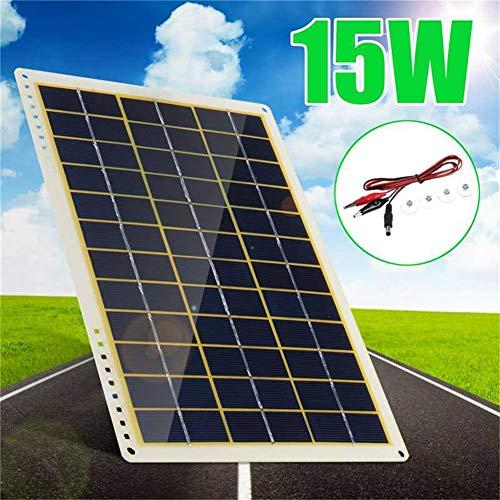 HMLIGHT Panel Solar 15W del Coche Cargador de batería Solar Mantenedor de Carga Lenta portátil para Casas rodantes Barco
