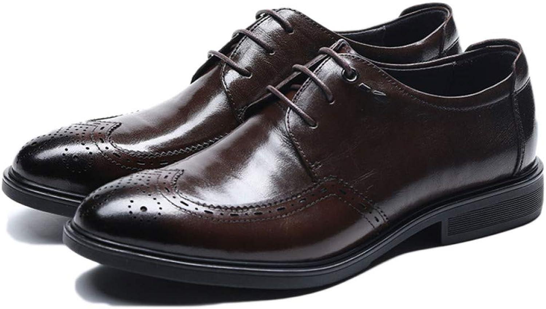 nihiug Herren Business Schuhe Schnürschuhe Klassische Büro Brogue Leder Retro Leder Lederschuhe Herbst Und Winter B07L2DVL5W    Erste Qualität