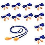20 Pairs Soft Silicone Corded Ear Plugs Reusable Sleep Swim Noise Hearing Protection Earplugs Music Concerts Construction Shooting Hunting Motor Sports