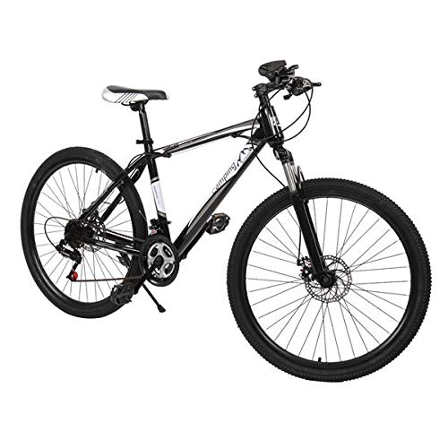 Dalkeyie 26' Mountain Bike Bicycle, 21-Speed Full Suspension Bicycle, Height adjustable Unisex's Dual Disc Brake MTB