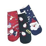ZZBO 3Paar Wintersocken für Kinder Weihnachtsstrumpf Wärmende High Ankle Socks Christmas Crew...