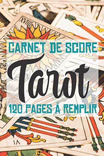 Le carnet de score 120 pages pour fan de tarot