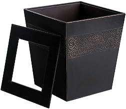 Retro Trash Can Metal Trash Bin Hotel Office Recycling Bin Household Storage Bucket Kitchen,Bathroom,Office