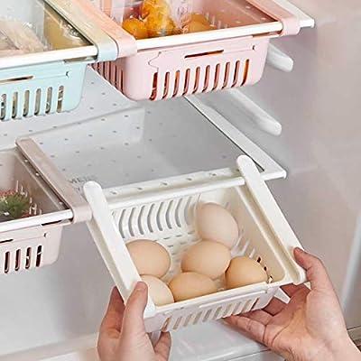 3 Pcs Pull-Out Refrigerator Storage Box Holder ...