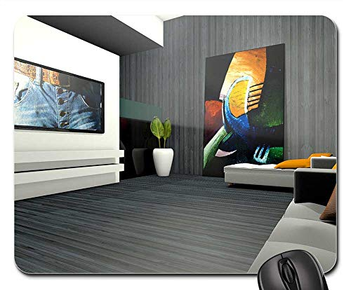 Mouse Pad - Living Room Spatial Apartment Graphic