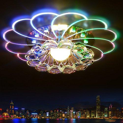 Plafoniera Lampada da Soffitto Moderna Lampadario 5W Cristallo Moderno LED Colorato Della Diametro 20 cm