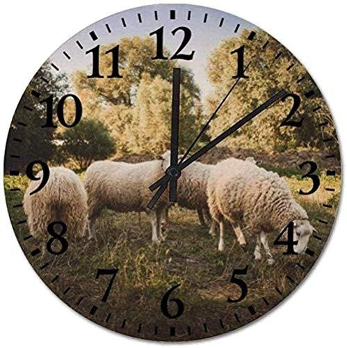 quanjiafu oj De Pared Movimiento De Cuarzo Silencioso Sin Tictac Relojes Silenciosos Reloj De Animales Curativos para Sala De Estar/Oficina/Cocina/Dormitorio/Escuela/Bar/Comedor Fácil De Leer-O74123