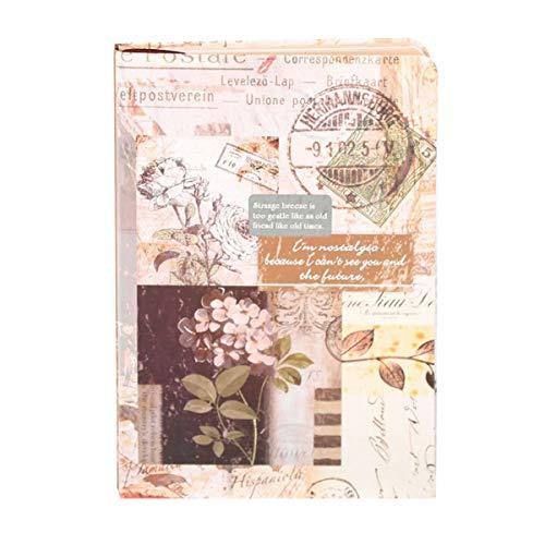 Nihlsen Diarios de la universidad de cuaderno retro cuadernos de tapa dura A5 libro de estudiantes de papel Kraft