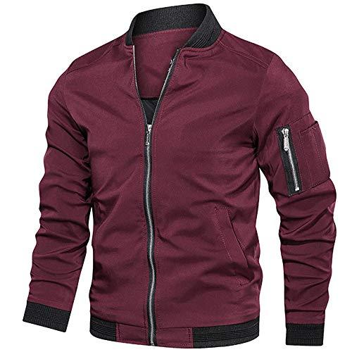 Mens chaquetas bombardero chaqueta primavera otoño chaqueta hombres ropa casual streetwear