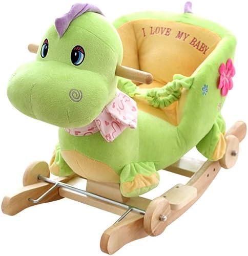Byx- Baby Schaukelpferd - Schaukelstuhl Schaukelwagen P gogisches Spielzeug 6-12 Monate Musik Trojaner Kind Früherziehung Baby Schaukelpferd 1-3 Jahre alt Geschenk - Baby Schaukelpferd