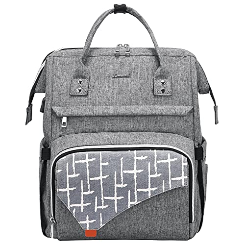 LOVEVOOK Laptop Rucksack 15,6 Zoll Rucksack Damen wasserdichte Schulrucksack mit Laptopfach für Reisen Arbeit, Grau