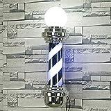 Wttfc Poste del Peluquero del salón de peluquería Ciclo de iluminación Bandera de Giro ingrese lámpara de barbero Pelo a Prueba de Agua
