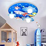 Lámpara De Techo Universe Rocket Star Luces Para Niños Luz De Techo Regulable LED Blanca Habitación Para Bebés Dormitorio Sala De Estar Habitación Luces De Dibujos Animados Araña Iluminación Interior