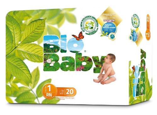 Moltex Bio Baby - Pañales Biodegradables, Tamaño 1, 40 unidades[Pack de 2x20]
