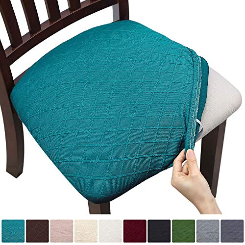 Fuloon 4 6 Pack Stretch Jacquard Chair Seat Covers,Removable...