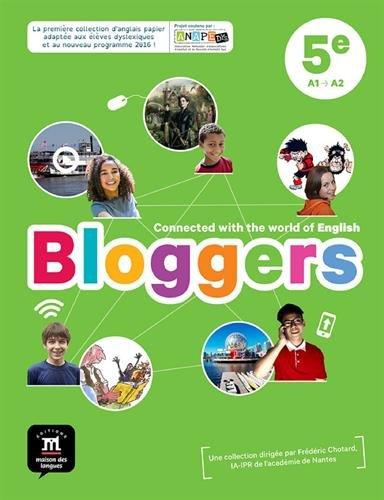 Anglais 5e A1 A2 Bloggers Livre De L Eleve