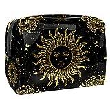 Bolsa de maquillaje portátil con cremallera bolsa de aseo de viaje para las mujeres práctico almacenamiento cosmético bolsa estilo gitano