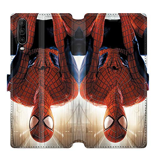 Housse cuir portefeuille pour Wiko View 4 / View 4 Lite Spiderman Invers