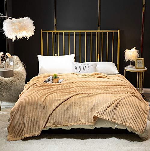 Flanell Fleece Überwurfdecken, Flauschige Decke für Schlafsofas, Mikrofaser Fleece Decke - Leicht, Weich, Plüsch, Flauschig, Warm, Gemütlich - Perfekter Überwurf in voller Größe für Couch, Bett