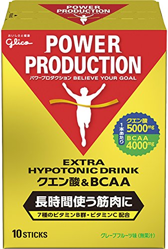 グリコパワープロダクションクエン酸酸&BCAA ハイポトニック粉末ドリンク グレープフルーツ風味 1袋 (12.4g...