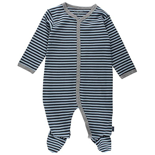 Fixoni Schlafanzug einteilig Pyjama, Bleu (Dark Navy), 12 Mois Bébé garçon