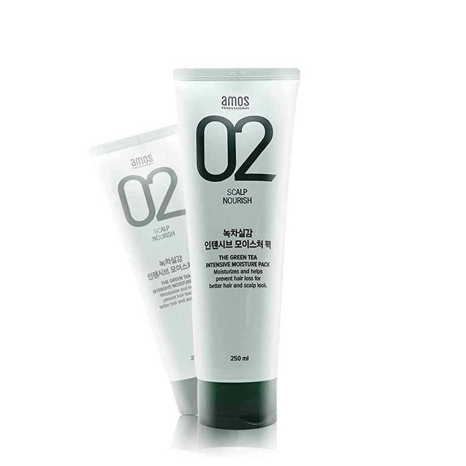 復活する皮肉な見捨てるアモス AMOS 緑茶実感インテンシブモイスチャーパック 250g, Feel the Green Tea Intensive Moisture Hair Pack