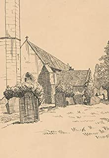 Montague M. Webb (fl.1935-1975) - 1935 Pen and Ink Drawing, Tithe Barn