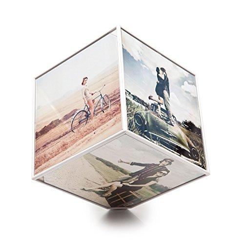 Balvi - Marco Kube giratorio 6x 10x10, 1xAA (No incluida), plástico