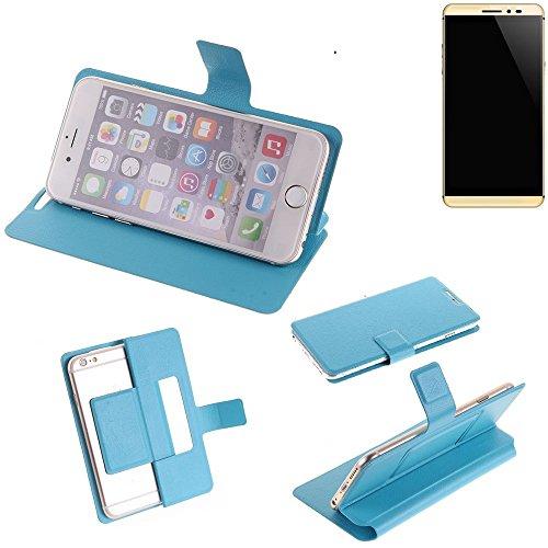 K-S-Trade® Flipcover Für Coolpad Max Schutz Hülle Schutzhülle Flip Cover Handy Case Smartphone Handyhülle Blau