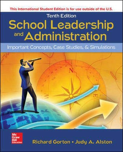 ISE School Leadership and Administration: Important Concepts, Case Studies, and Simulations