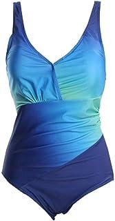 女性のワンピース水着 プラスサイズのMonokinis水着水着ビキニレディースワンピース水着 女性用水着 (色 : 青, サイズ : XXXL)