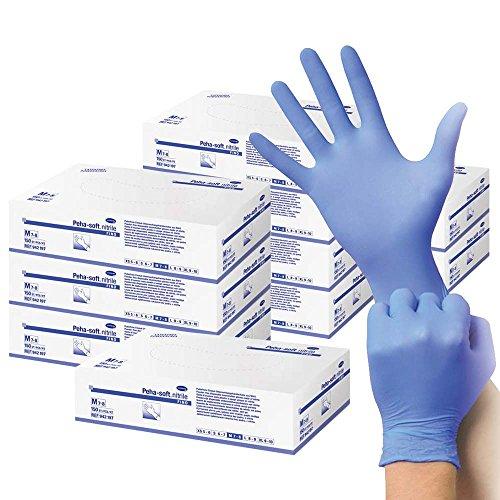 10x 150 Nitrilhandschuhe Peha-soft nitrile fino Einmalhandschuh Untersuchungshandschuhe blau, S