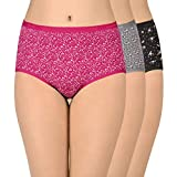 Amante Printed Full Converage Cotton Full Brief Panty Pack (Pack of 3) C336 Print Medium