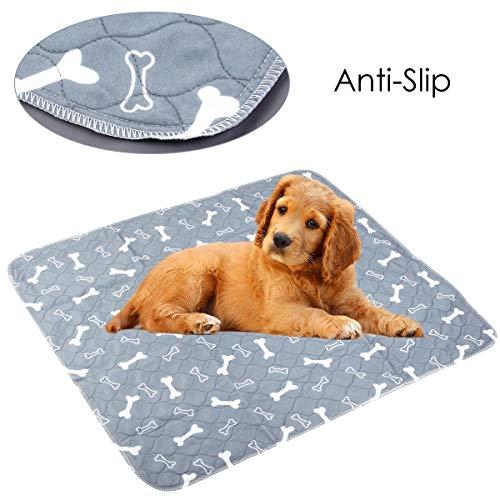 iFCOW Herbruikbare Pet Pee Pad Waterdichte Puppy Hond Kat Pee Bed Pad Tapijt Urine Huisdier Training Mat 80 * 90cm, 40 * 60cm