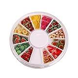 Naisicatar Nailart Tools 144pcs 3D FIMO Fetta Frutta Fresca Decorazione Viso