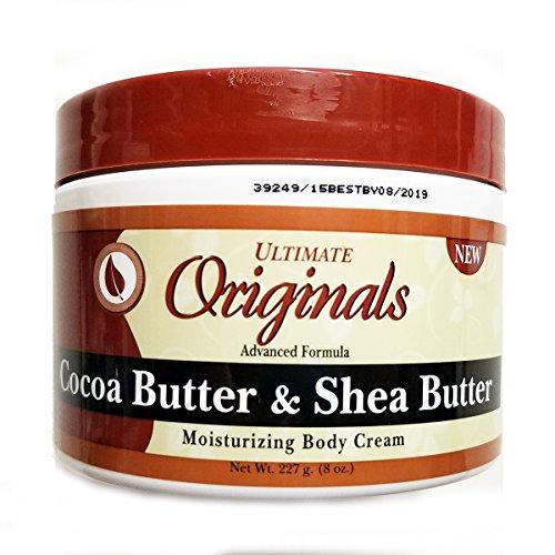 Ultimate Organics Crème hydratante pour le corps - A base de beurres de cacao et de karité - 235 ml