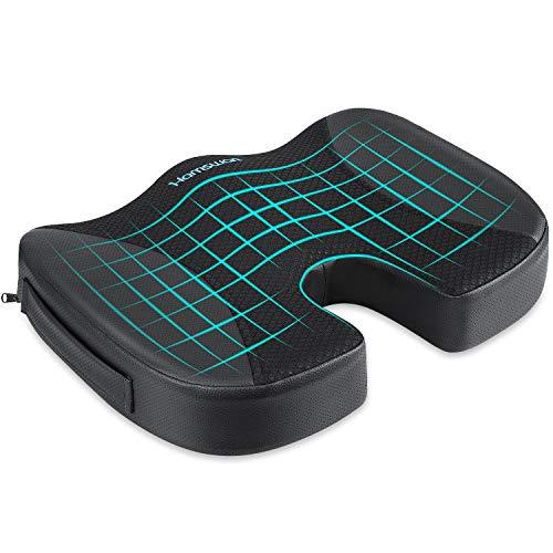 REDSTORM Cojín de asiento ortopédico, cojín ergonómico para silla de oficina & Co – Reduce el dolor, aumenta la comodidad del asiento, promueve la circulación sanguínea y alivia el coxis