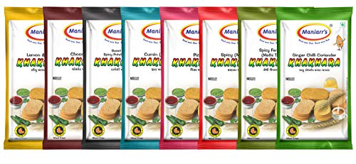 Maniarr's Khakhra Combo 8 Flavors In 8 Packs , 360 Gm
